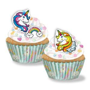 Kit Cupcakes Unicornio Recortables