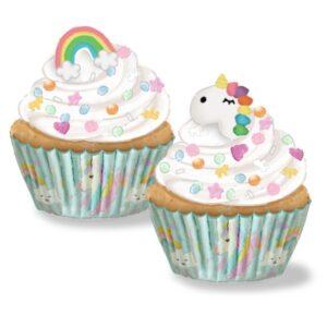 Kit Cupcakes Unicornio figuras azúcar