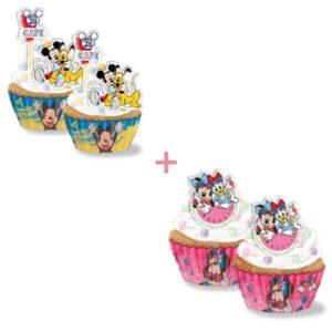 Kits Cupcakes Mixtos Mickey/Minnie