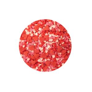 Confeti Temático de Corazón (mini corazones 3 colores)70 gr.
