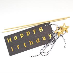 "Topper ""Happy Birthday"" Negro"